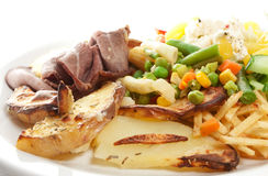 Roast Beef Dish Stock Photography