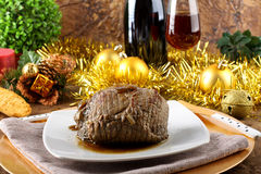 Roast beef with gravy Royalty Free Stock Image