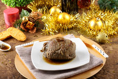 Roast beef with gravy Royalty Free Stock Photos
