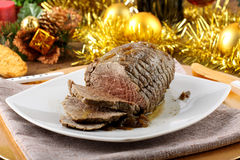 Roast beef with gravy Stock Image
