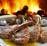 Roast beef. Grilled with vegetables Stock Photo