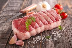 Roast beef and ingredient Royalty Free Stock Photography