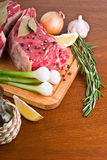Roast beef with ingredients Royalty Free Stock Photos
