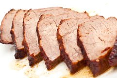 Roast beef isolated on white Royalty Free Stock Photo