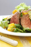 Roast Beef and Mango Salad Stock Photo