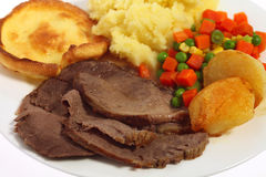 Roast beef meal Royalty Free Stock Photography