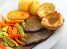 Roast beef meal Royalty Free Stock Photos