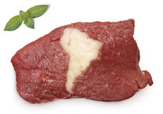 Roast beef meat and fat shaped as America.(series) Royalty Free Stock Image