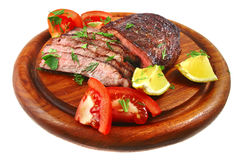 Roast beef meat slices Stock Images