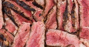 Roast beef meat steak sliced Stock Photo