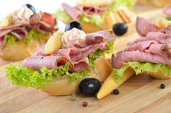 Roast beef morsels Royalty Free Stock Image