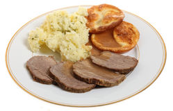 Roast beef plate Royalty Free Stock Photography