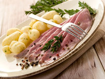 Roast beef with potatoes Royalty Free Stock Photos