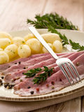 Roast beef with potatoes Royalty Free Stock Image