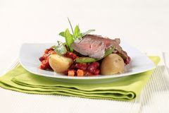 Roast beef and red bean chili Royalty Free Stock Photo