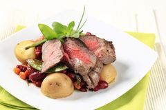 Roast beef and red bean chili Stock Images