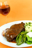 Roast Beef with red Wine Royalty Free Stock Photography