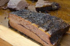 Roast Beef. A roasted beef brisket on the cutting board Royalty Free Stock Image