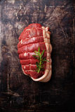 Roast beef and rosemary Stock Image