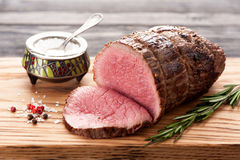 Roast beef with rosemary Royalty Free Stock Images