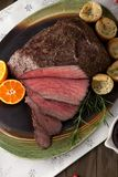 Roast Beef Rustic Style Royalty Free Stock Image