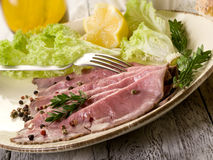 Roast beef with  salad Royalty Free Stock Photography