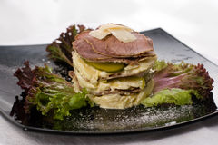 Roast beef salad Stock Photo