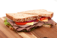 Roast beef sandwich Stock Photography
