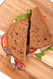 Roast beef sandwich. Cut in half Stock Photography