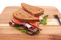 Roast beef sandwich Stock Image