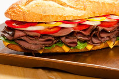 Roast beef sandwich Stock Photo