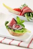 Roast Beef Sandwich Royalty Free Stock Image