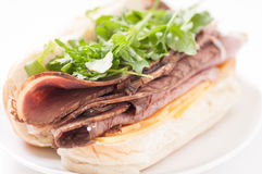 Roast beef sandwich with all the fixings Stock Photo
