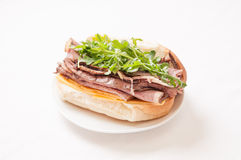 Roast beef sandwich with all the fixings Royalty Free Stock Images