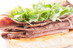 Roast beef sandwich with all the fixings Royalty Free Stock Photo