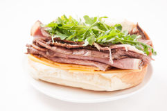 Roast beef sandwich with all the fixings Stock Photos
