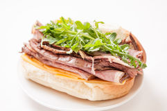 Roast beef sandwich with all the fixings Royalty Free Stock Photography
