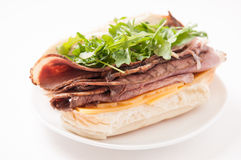 Roast beef sandwich with all the fixings Stock Image
