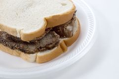 Roast Beef Sandwich, Close Up Royalty Free Stock Images