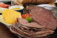 Roast beef sandwich fixings Royalty Free Stock Images