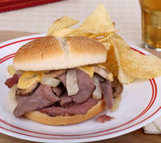 Roast Beef Sandwich Royalty Free Stock Image
