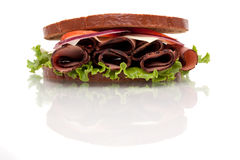 Roast beef sandwich on rye bread Stock Photo