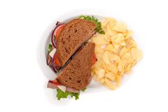 Roast beef sandwich on rye bread Stock Images