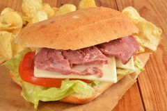 Roast beef sandwich Royalty Free Stock Photos