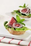 Roast Beef Sandwiches Stock Images