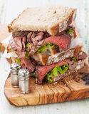 Roast beef sandwiches royalty free stock photos