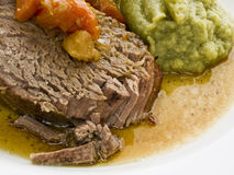 Roast beef with savoy Royalty Free Stock Photos