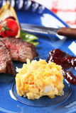 Roast beef with scrambled eggs Stock Images