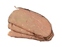 Roast Beef Slices Royalty Free Stock Image