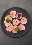 Roast beef slices Royalty Free Stock Photos